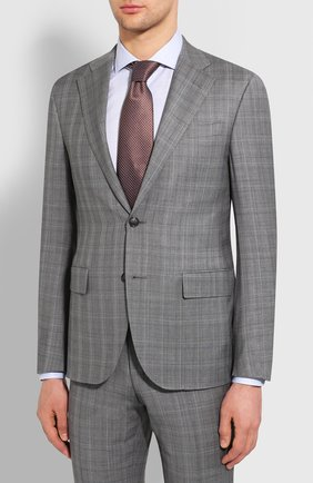 Мужской шерстяной костюм CORNELIANI серого цвета, арт. 857268-0117097/92 Q1   Фото 2