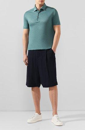 Мужские шорты GIORGIO ARMANI темно-синего цвета, арт. 9SGPB003/T00AB | Фото 2