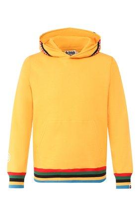 Мужской хлопковое худи BAPE желтого цвета, арт. 1G30114004 | Фото 1