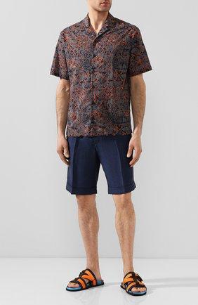 Мужская хлопковая рубашка Z ZEGNA разноцветного цвета, арт. 705166/ZC0B2 | Фото 2