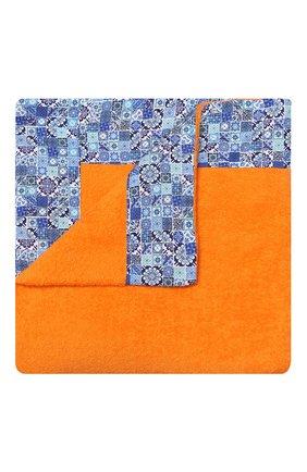 Мужские хлопковое полотенце KITON оранжевого цвета, арт. UTLM02X08S16 | Фото 1