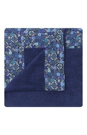 Мужские хлопковое полотенце KITON темно-синего цвета, арт. UTLM02X08S16   Фото 1