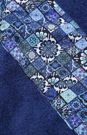 Мужские хлопковое полотенце KITON темно-синего цвета, арт. UTLM02X08S16   Фото 2