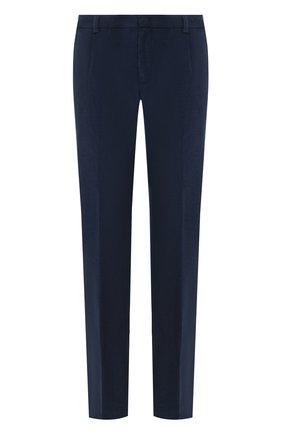 Мужской брюки из смеси хлопка и кашемира LORO PIANA темно-синего цвета, арт. FAL1514 | Фото 1
