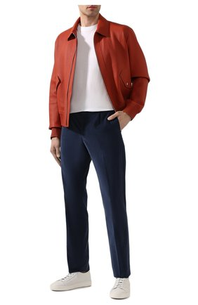 Мужской брюки из смеси хлопка и кашемира LORO PIANA темно-синего цвета, арт. FAL1514 | Фото 2