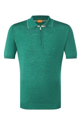 Мужское поло из смеси шелка и льна SVEVO зеленого цвета, арт. 6405/SE20/MP64   Фото 1