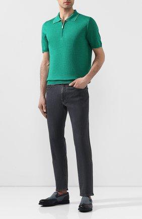 Мужское поло из смеси шелка и льна SVEVO зеленого цвета, арт. 6405/SE20/MP64   Фото 2