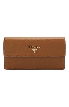Женская поясная сумка PRADA коричневого цвета, арт. 1CC411-2B04-F098L | Фото 1