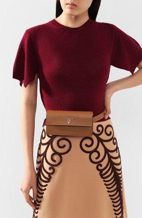 Женская поясная сумка PRADA коричневого цвета, арт. 1CC411-2B04-F098L | Фото 2