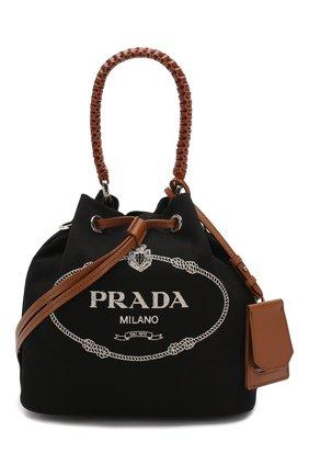Женская сумка PRADA черного цвета, арт. 1BE032-2DID-F0B7K-POO | Фото 1
