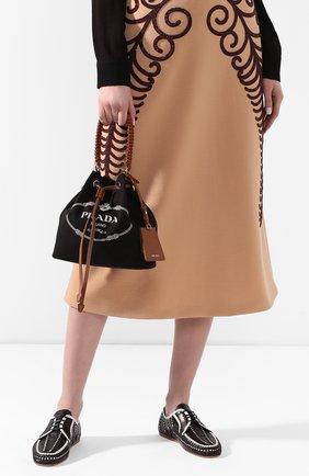 Женская сумка PRADA черного цвета, арт. 1BE032-2DID-F0B7K-POO | Фото 2
