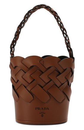 Женская cумка bucket PRADA коричневого цвета, арт. 1BE049-2DI4-F0XKV-OOO | Фото 1