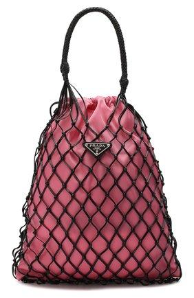 Женская cумка bucket PRADA розового цвета, арт. 1BC072-2D8O-F0UGK-OOM | Фото 1