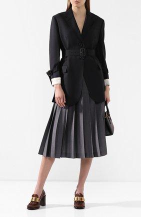 Женский шерстяной жакет PRADA черного цвета, арт. P500IH-G54-F0008   Фото 2