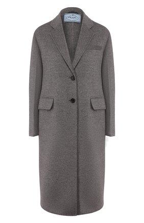 Женское шерстяное пальто PRADA серого цвета, арт. P668M-1CRU-F0031 | Фото 1
