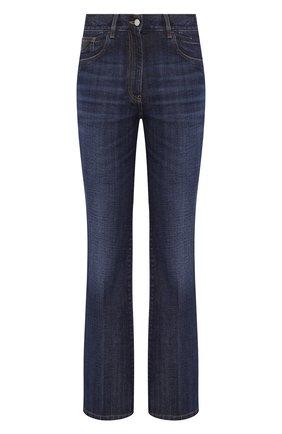 Женские джинсы PRADA синего цвета, арт. GFP444-1SZ6-F0008 | Фото 1