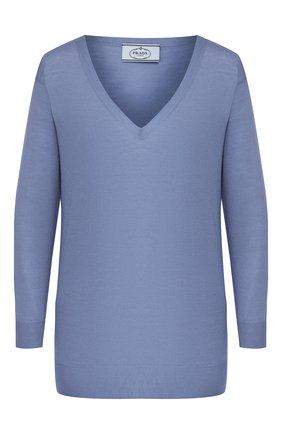 Женский шерстяной пуловер PRADA сиреневого цвета, арт. P24Q77-J2N-F0237 | Фото 1