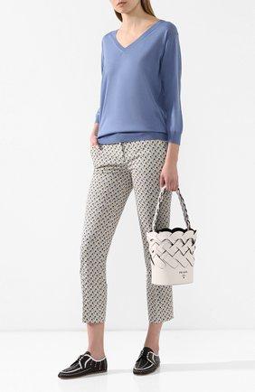 Женский шерстяной пуловер PRADA сиреневого цвета, арт. P24Q77-J2N-F0237 | Фото 2