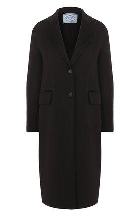 Женское шерстяное пальто PRADA черного цвета, арт. P668M-1CRU-F0002   Фото 1