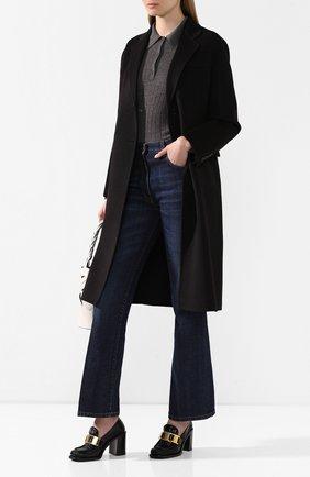 Женское шерстяное пальто PRADA черного цвета, арт. P668M-1CRU-F0002   Фото 2