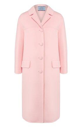 Женское шерстяное пальто PRADA розового цвета, арт. P638M-1CRU-F0E18   Фото 1