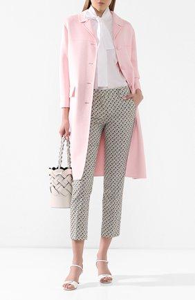 Женское шерстяное пальто PRADA розового цвета, арт. P638M-1CRU-F0E18   Фото 2