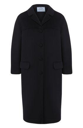 Женское шерстяное пальто PRADA черного цвета, арт. P638M-1CRU-F0G4F   Фото 1