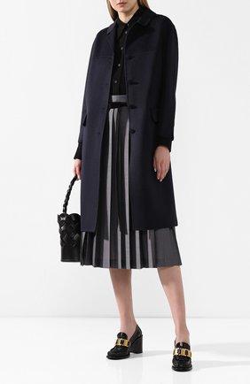 Женское шерстяное пальто PRADA черного цвета, арт. P638M-1CRU-F0G4F   Фото 2