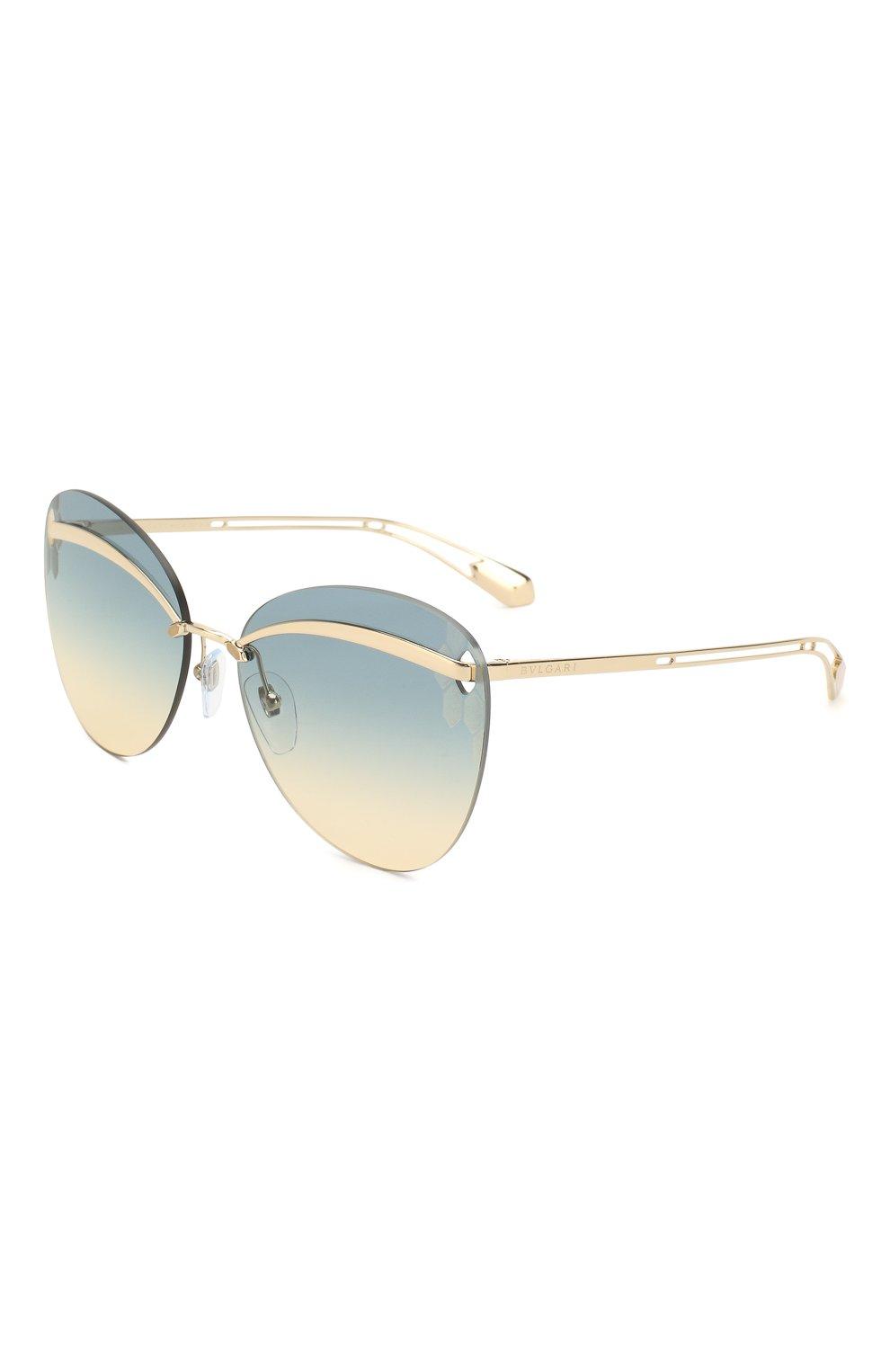 Женские солнцезащитные очки BVLGARI золотого цвета, арт. 6130-278/4M | Фото 1