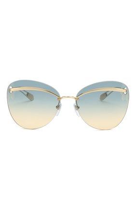 Женские солнцезащитные очки BVLGARI золотого цвета, арт. 6130-278/4M | Фото 3