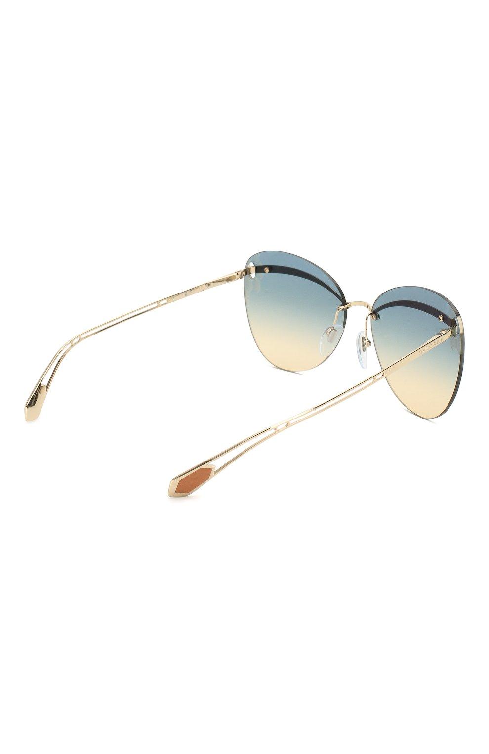Женские солнцезащитные очки BVLGARI золотого цвета, арт. 6130-278/4M | Фото 4