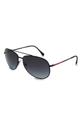 Мужские солнцезащитные очки PRADA LINEA ROSSA черного цвета, арт. 55US-1B05W1   Фото 1