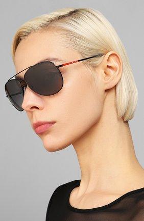 Мужские солнцезащитные очки PRADA LINEA ROSSA черного цвета, арт. 55US-1B05W1   Фото 2
