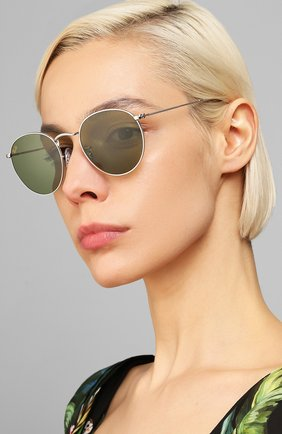 Женские солнцезащитные очки RAY-BAN зеленого цвета, арт. 3447-91984E | Фото 2