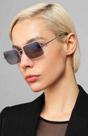 Женские солнцезащитные очки RAY-BAN серебряного цвета, арт. 1969-914978   Фото 2