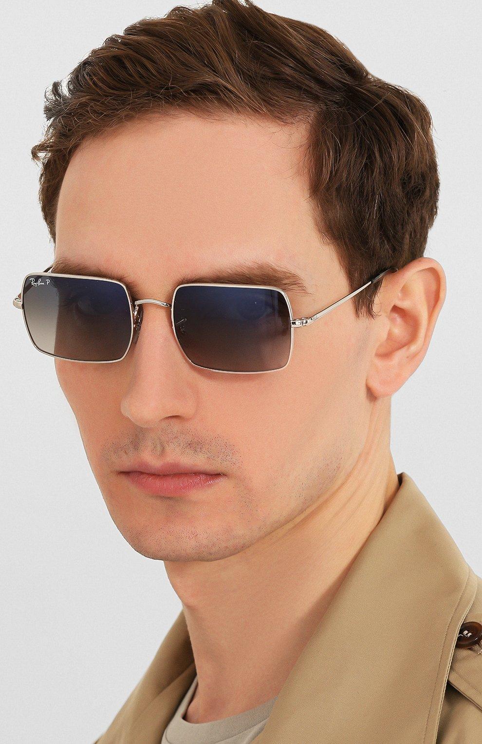 Женские солнцезащитные очки RAY-BAN серебряного цвета, арт. 1969-914978   Фото 3