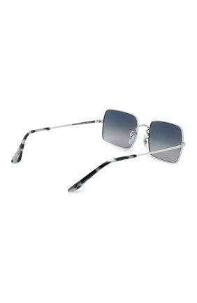 Женские солнцезащитные очки RAY-BAN серебряного цвета, арт. 1969-914978   Фото 5