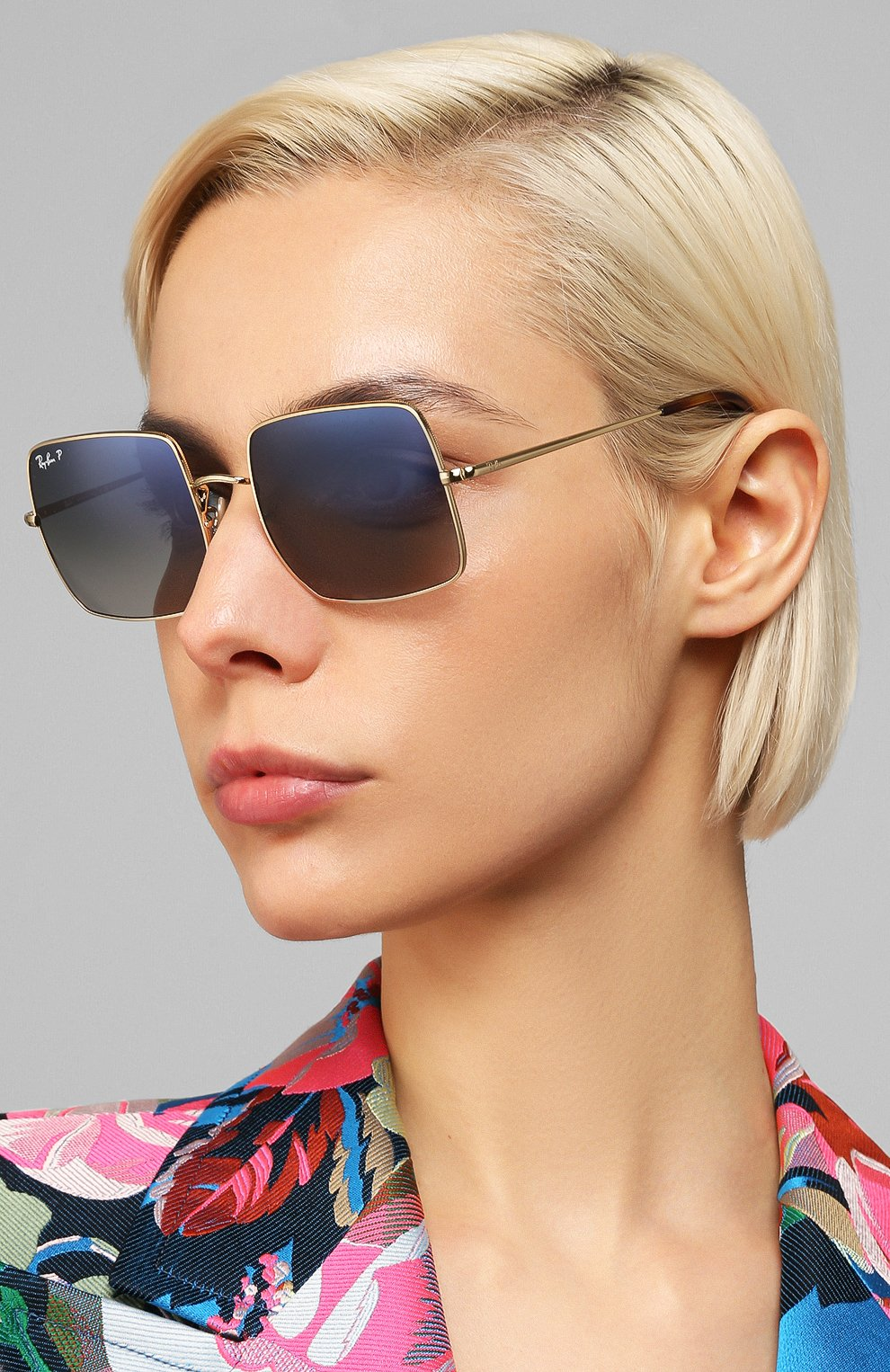 Женские солнцезащитные очки RAY-BAN темно-синего цвета, арт. 1971-914778 | Фото 2