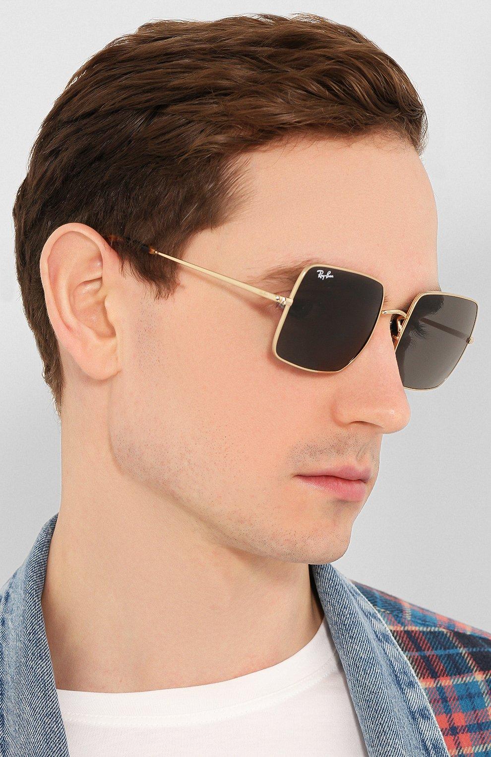 Женские солнцезащитные очки RAY-BAN черного цвета, арт. 1971-9150B1 | Фото 3