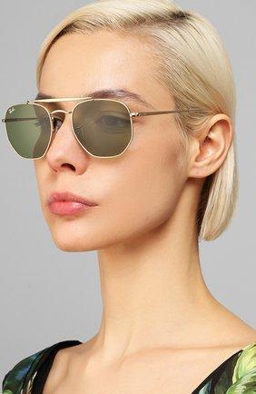 Мужские солнцезащитные очки RAY-BAN зеленого цвета, арт. 3648-001/4E   Фото 2