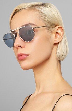 Женские солнцезащитные очки RAY-BAN голубого цвета, арт. 3648-003/56 | Фото 2