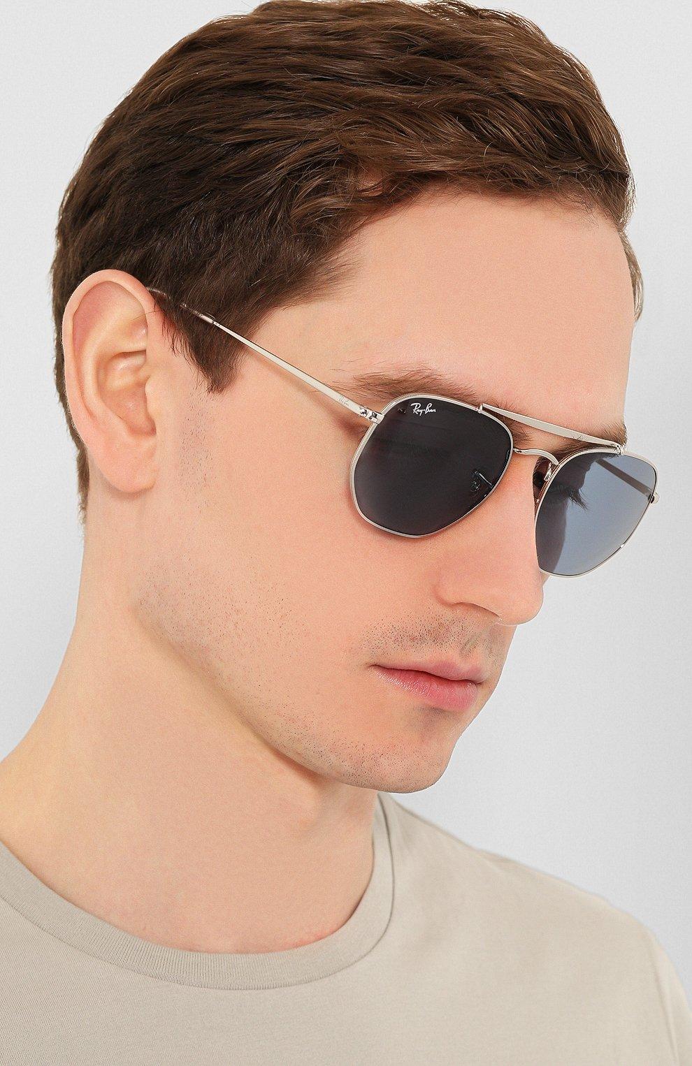 Женские солнцезащитные очки RAY-BAN голубого цвета, арт. 3648-003/56 | Фото 3
