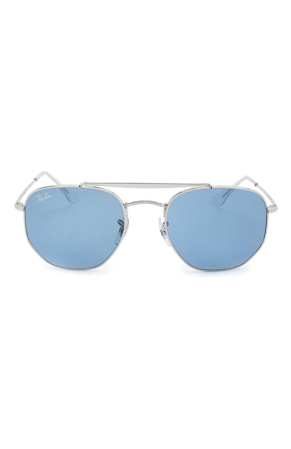 Женские солнцезащитные очки RAY-BAN голубого цвета, арт. 3648-003/56 | Фото 4