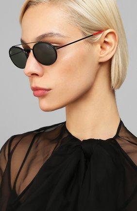 Женские солнцезащитные очки RAY-BAN черного цвета, арт. 3847M-F02831 | Фото 2