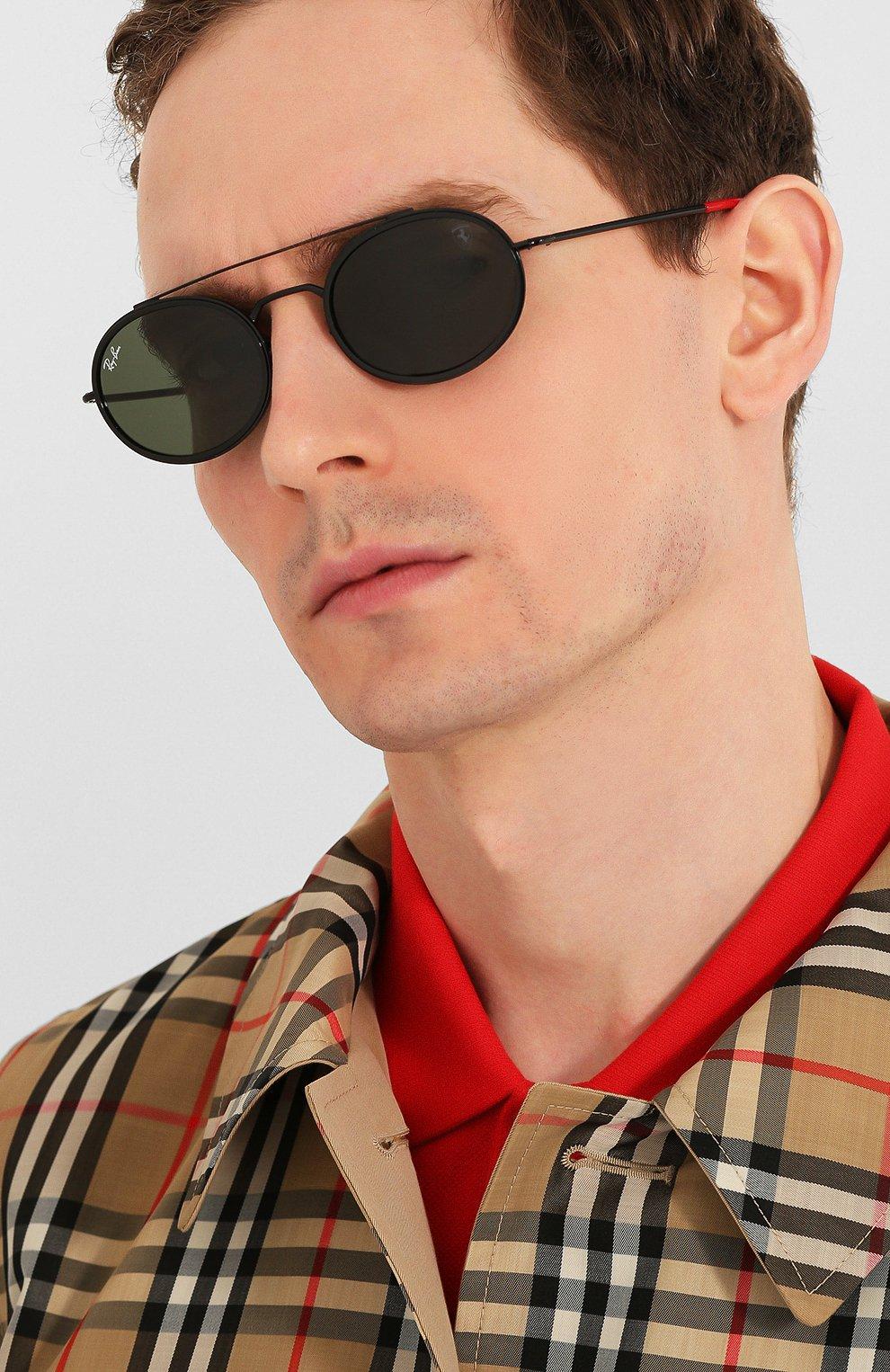 Женские солнцезащитные очки RAY-BAN черного цвета, арт. 3847M-F02831 | Фото 3