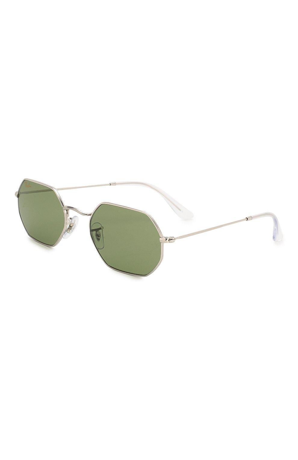 Женские солнцезащитные очки RAY-BAN зеленого цвета, арт. 3556-91984E   Фото 1