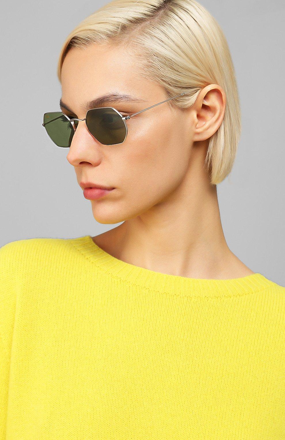 Женские солнцезащитные очки RAY-BAN зеленого цвета, арт. 3556-91984E   Фото 2