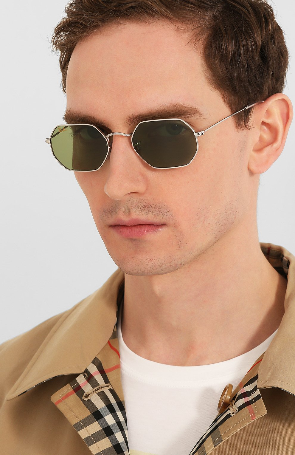 Женские солнцезащитные очки RAY-BAN зеленого цвета, арт. 3556-91984E   Фото 3