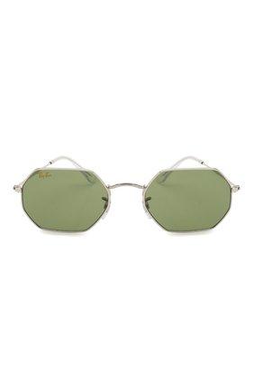 Женские солнцезащитные очки RAY-BAN зеленого цвета, арт. 3556-91984E | Фото 4