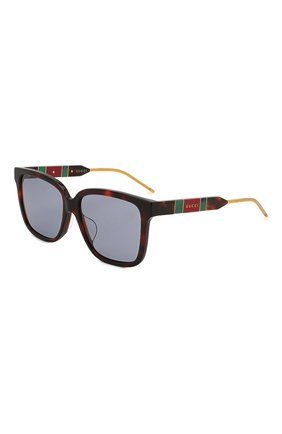 Мужские солнцезащитные очки GUCCI коричневого цвета, арт. GG0599SA 002   Фото 1